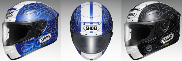 SHOEI announces X-TWELVE, Kiyonari and Kagayama Models